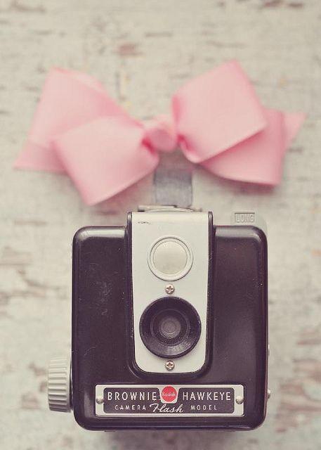 ♥ by Yvette Inufio, via Flickr  #BOW #RIBBON #VINTAGE CAMERA