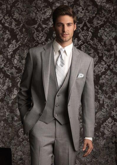 Groomsmen Inspiration-Substitute gray vest & tie w/ red vest & tie #donnamorganengaged