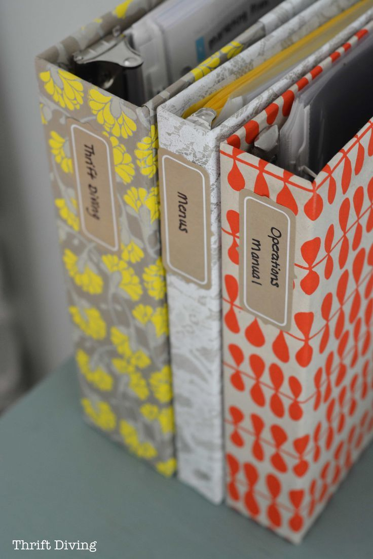 How to Cover Ugly Binders With Pretty Paper: DIY Notebooks