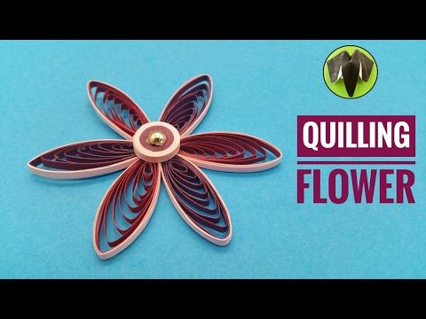 Quilling Flower using Comb - DIY Tutorial by Paper Folds - YouTube
