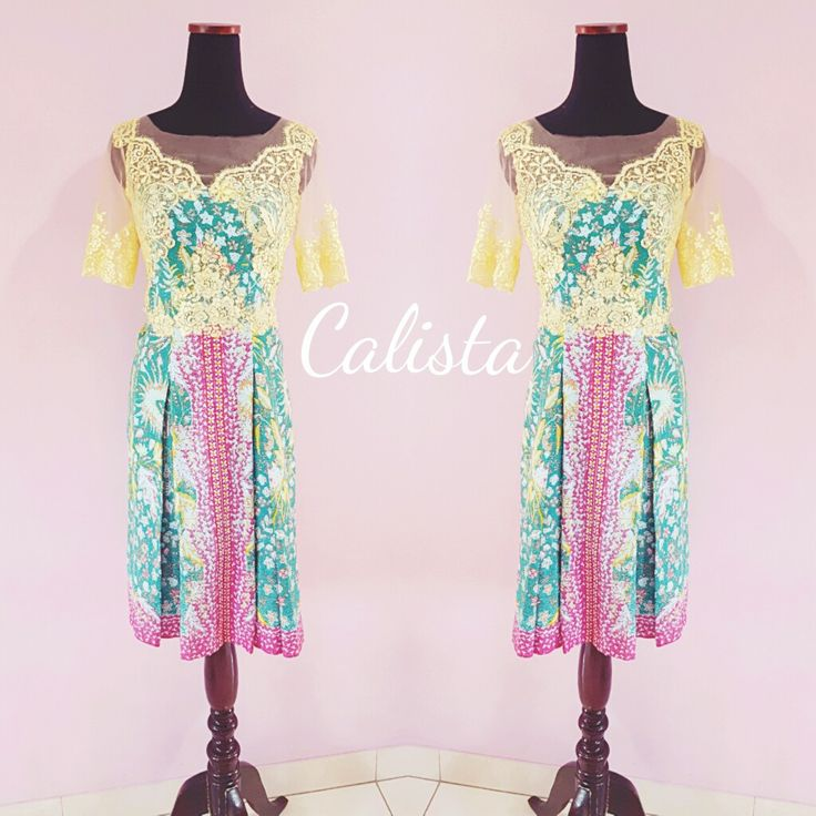 Other option for your batik dress. Modern cutting and lace to brighter your look