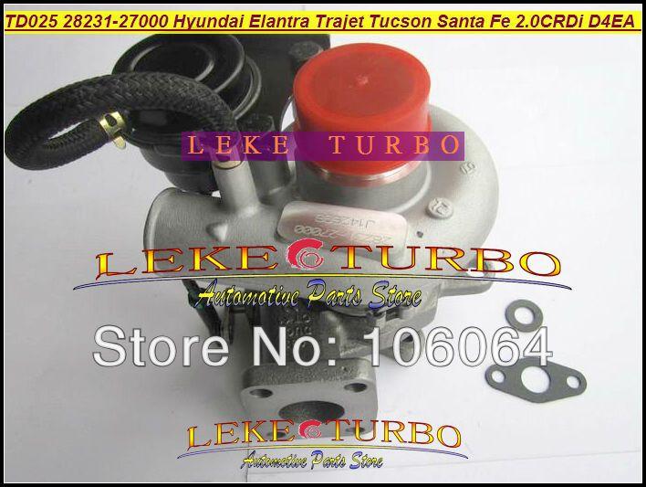 TD025 28231-27000 49173-02412 Turbo Турбокомпрессор Для KIA Carens Hyundai Elantra Trajet Тусон Санта-Фе 2000-D4EA 2.0L CRDi