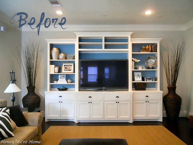 """Decorating Shelves - How to style a book case from """"Honey We're ..."""