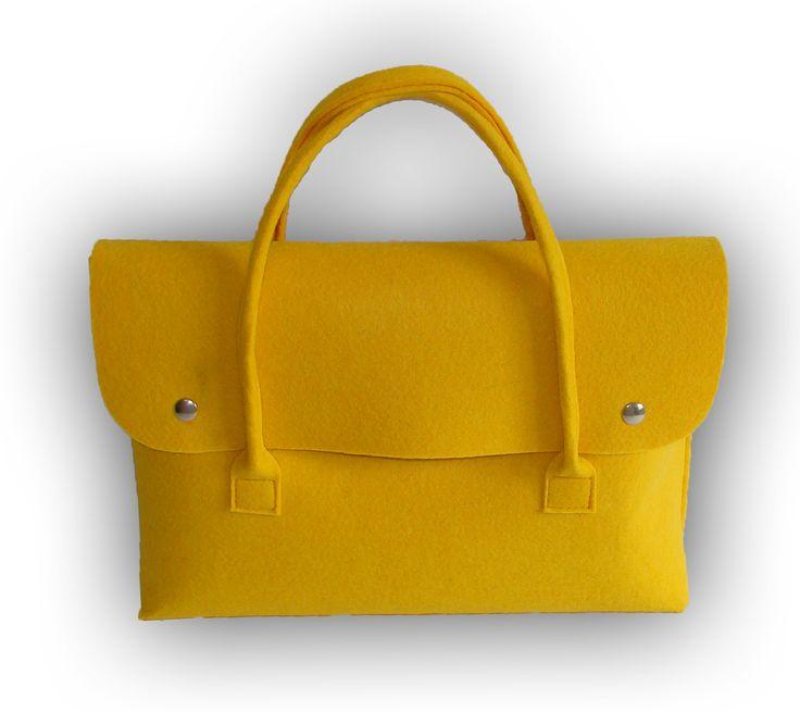 E-FELT laptop bag yellow