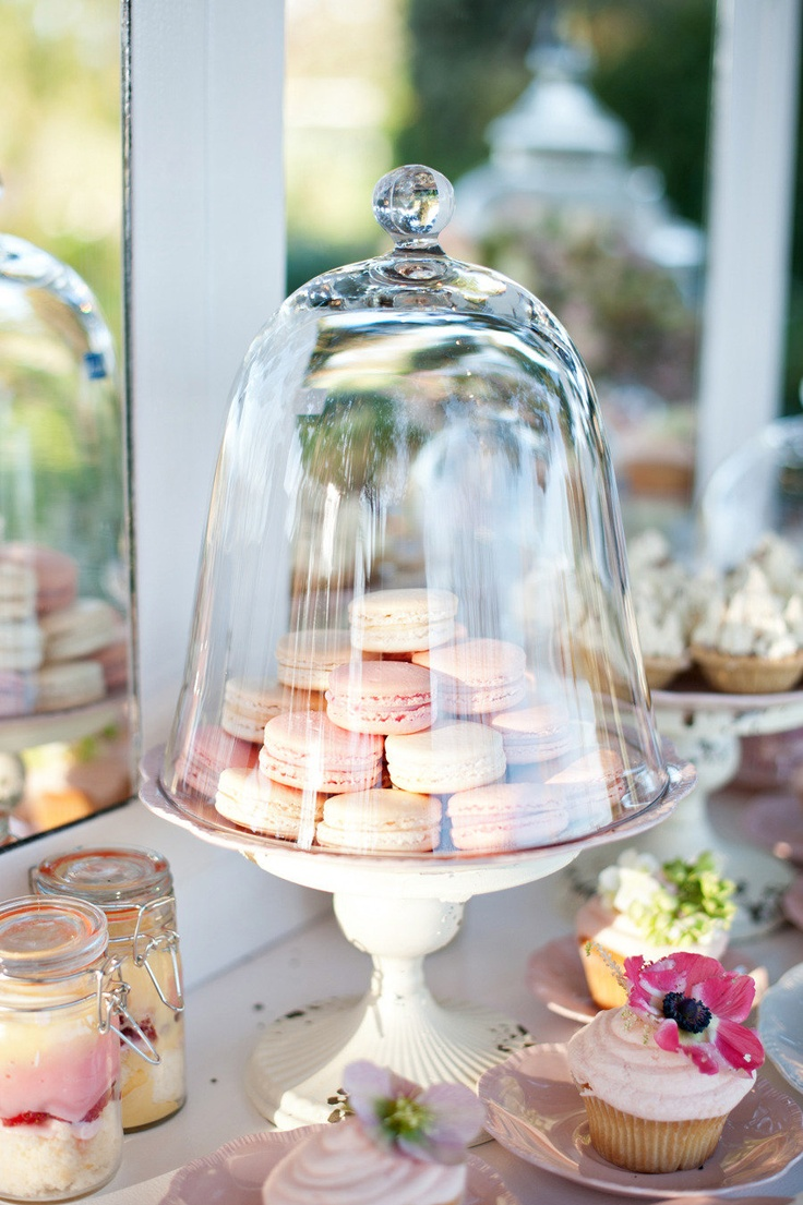 Such an elegant way to display desserts... and protect them from bugs! Photography By / http://emmasharkey.com,Styling By / http://raptureevents.com.au