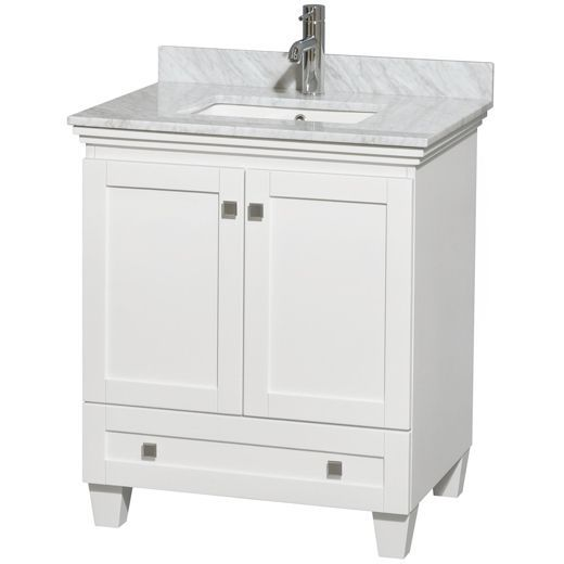 Photo Gallery For Photographers Wyndham Collection Acclaim White inch Single Bathroom Vanity No Countertop No Sink Size Single Vanities