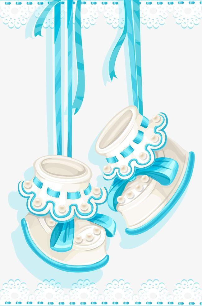 أحذية أطفال كرتون رسمت باليد الأم Png وملف Psd للتحميل مجانا Baby Clip Art Baby Shower Cards Baby Shoes
