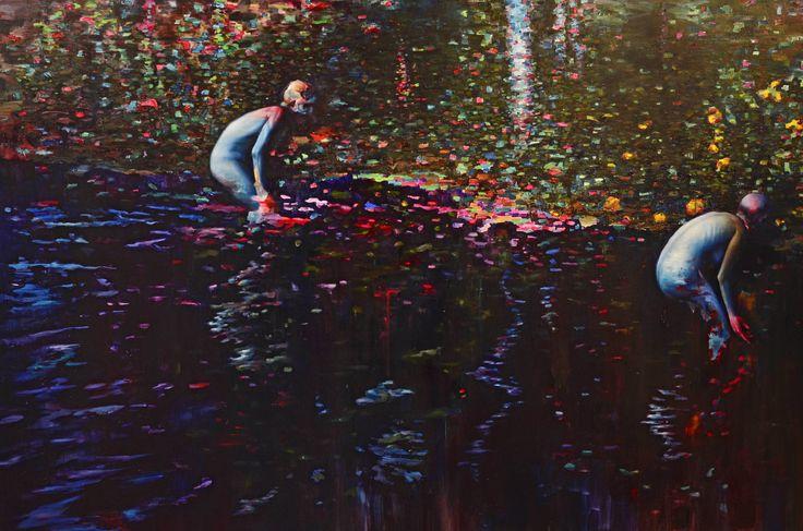 Jyri Ala-Ruona Järvimaisema/ Lakeside View, 130 x 180 , Oil on canvas