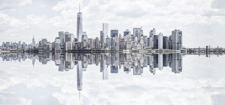 Manhattan Panorama by Zsolt Hlinka