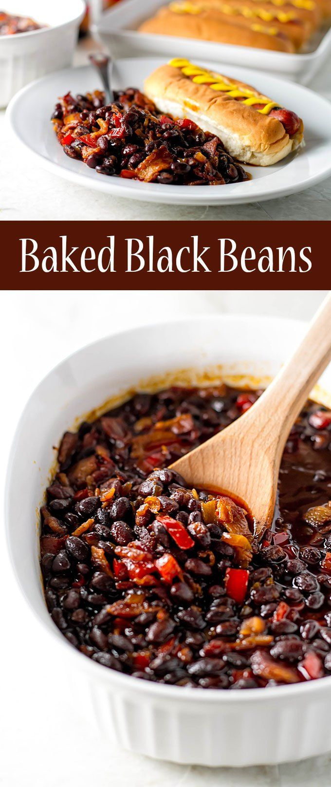 These baked black beans are perfect for summer BBQs! | girlgonegourmet.com