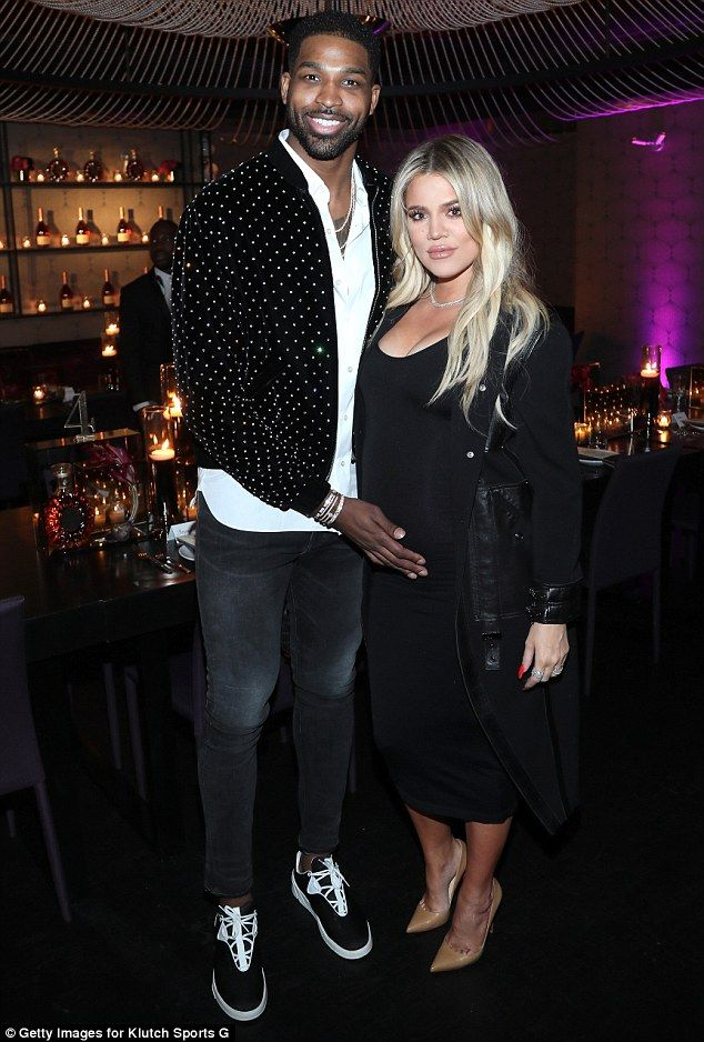 Happy family! Khloe Kardashian and Tristan Thompson looked all smiles as they attended the Klutch Sports Group 'More Than A Game' Dinner at Beauty & Essex in Los Angeles on Saturday.