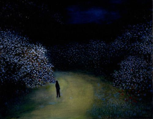 poboh:The Scented Path, Richard Cartwright. born in 1951 - Oil on Panel - (Source: John Martin Garelly )