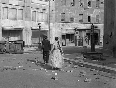 the Hal Roach backlot in the Twilight Zone episode 'Two'