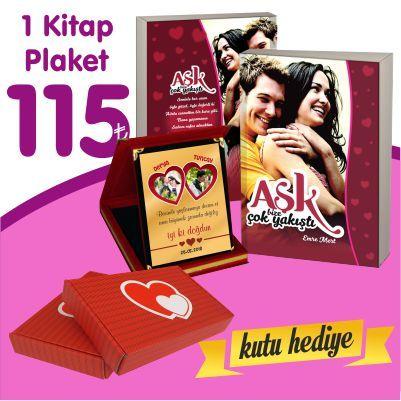 Sevgiliye Kitap + Plaket + Kutu