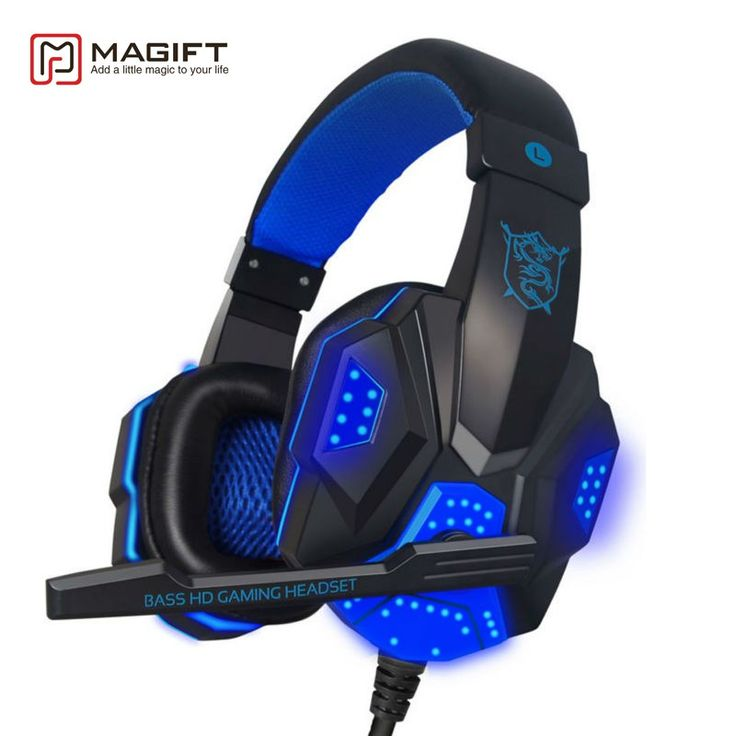 Buy online US $15.39  Magift Sound Effect Gaming Headset Stereo Headphones with Mic for Computer PC Laptop Gamer with LED Light Over Ear Glowing   Get discount for product: Laptop