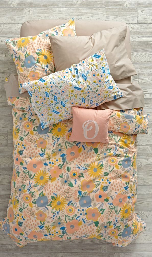 Looking for floral bedding that's always in bloom? Our Floral Rush Bedding is ready to freshen up any bedroom in your home. It features a colorfully printed flower design and comfy 100% cotton construction. So it's more comfortable than sleeping in an actual bed of flowers.