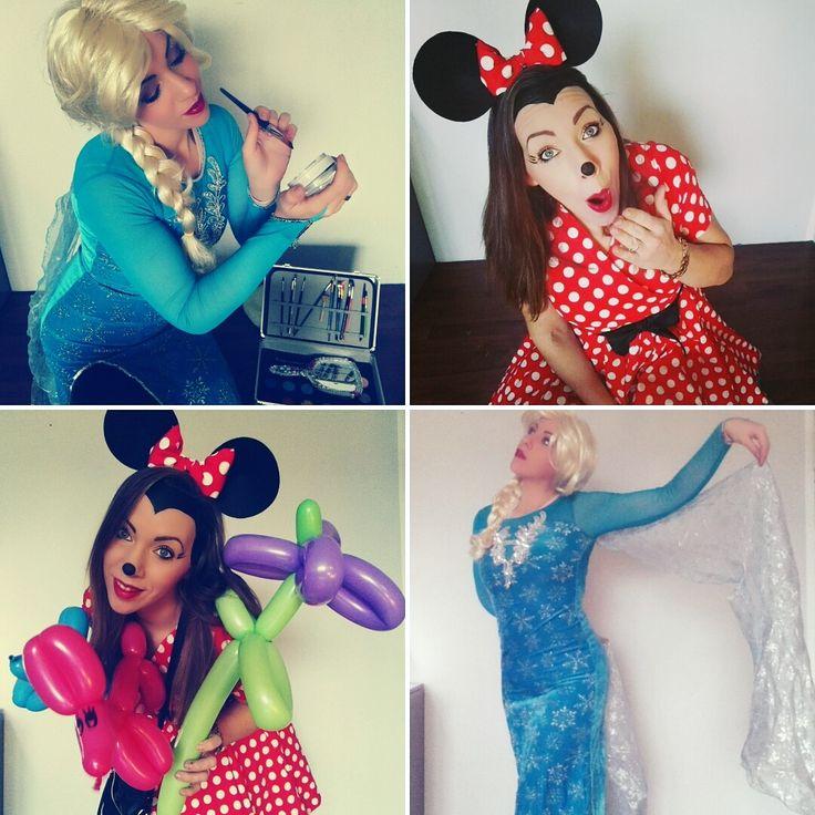 Kinderanimation mit Eiskönigin oder Minnie Mouse mit Ballonmodellage