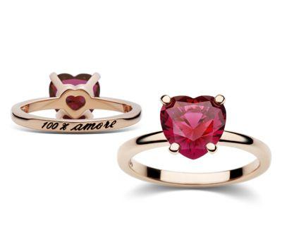 Heart shaped ring Dodo by pomellato