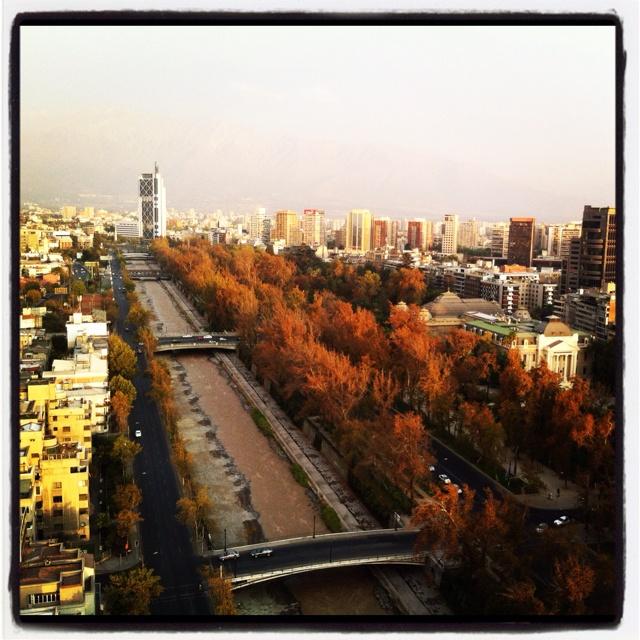 Otoño en Santiago, Chile.