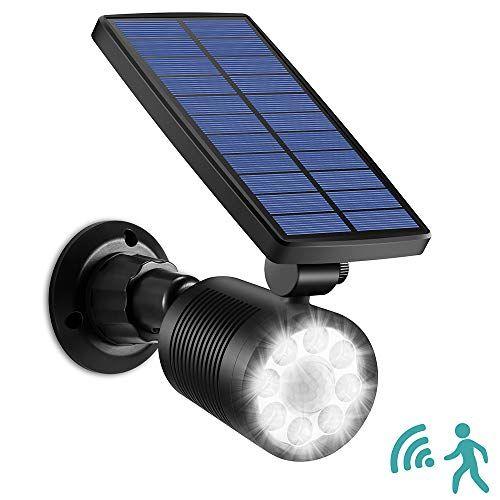 Solarleuchte mit Bewegungsmelder Außen LED Superhelles