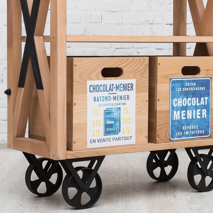 MENIER шкаф на колесах в индустриальном стиле - Мебель в стиле Лофт - Мебель по стилям Loft Art