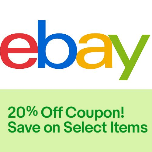 20% off $25 Coupon at ebay. Many items also ship for Free!