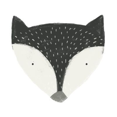 fox in black Art Print by Sweet Reverie | Society6