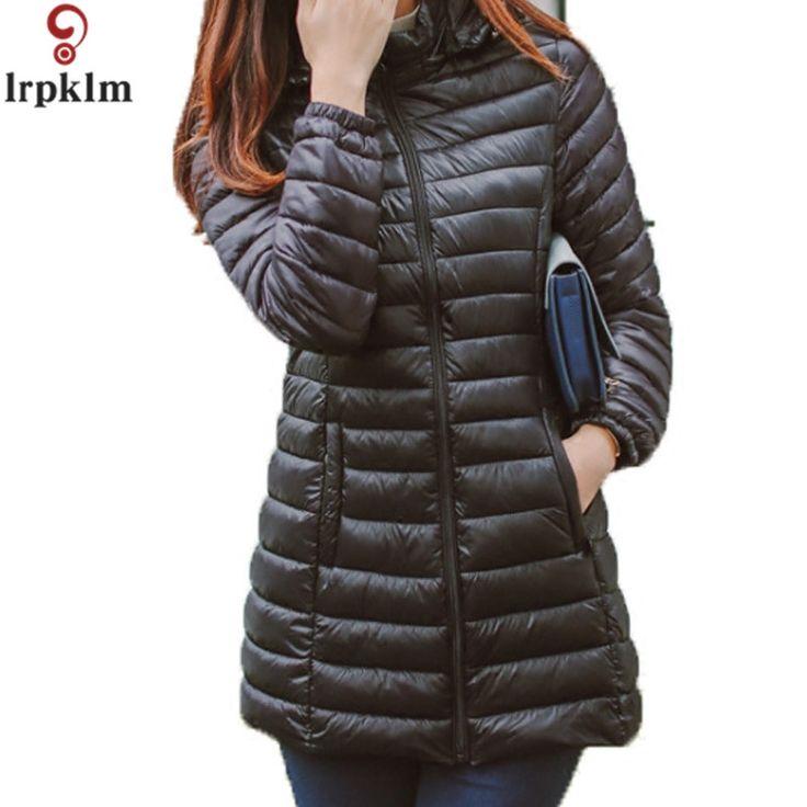 32.33$  Buy here - http://alievt.shopchina.info/1/go.php?t=32812248954 - Winter Jacket Women Parkas 2017 Warm Winter Coat Women Ultra Light Thin Slim Hooded Cotton Jackets Plus Size 5XL LZ128  #magazine