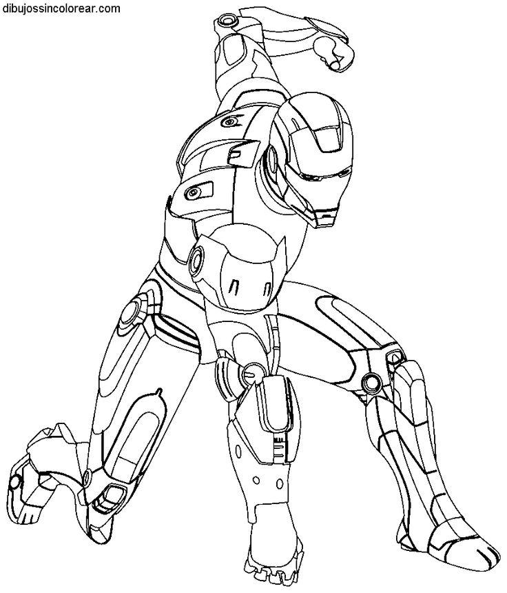 Dibujos Sin Colorear: Dibujos De Ironman Para Colorear 6 | Avenger ...