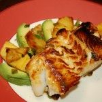 Caribbean Sea Bass with Avocado and Pineapple: Ems I Li, Caribbean Sea, Fish Seafood, Seafood Recipes, Honey Glaze, Eating, Cooking, Pineapple, Sea Bass
