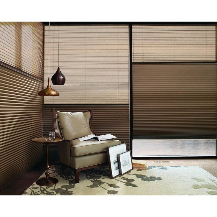 Yes there are two different shades on one window! Check out these Hunter Douglas Duette Day-Night shades. Sheer Shade featured on top and a room darkening Shade on the bottom. Can position them any way you'd like! Come in a variety of colors and fabrics!