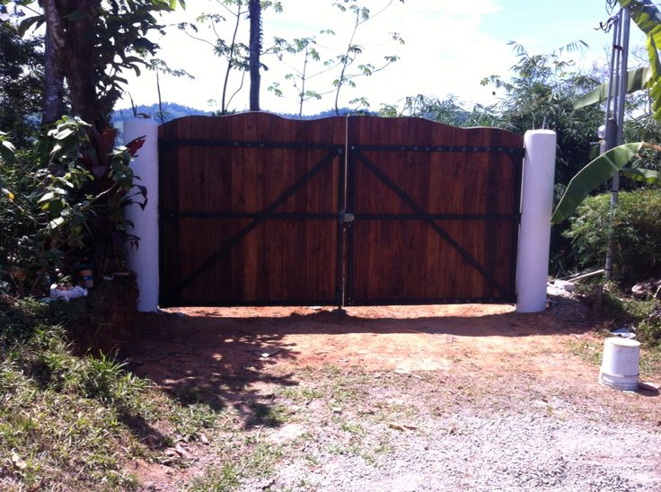 Treated pine stained gate