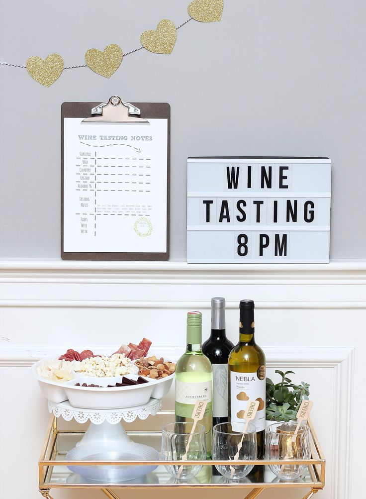 Cheers to a night in with all you need for a wine tasting for two.