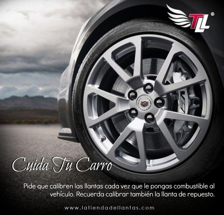 Pide que calibren las llantas cada vez que le pongas combustible al vehículo. #Llantas #Carros #Recomendaciones
