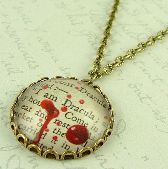 Count Dracula Necklace  Literary Vampire Quote by JezebelCharms, $35.00