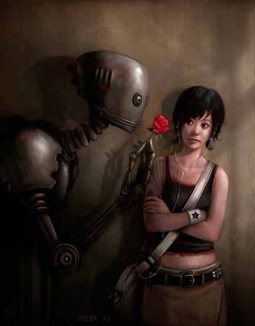 Fantastic: Robots, In Love, Art Prints, Digital Art, Rudi Faber, Rudyjan Faber, Rudi Jan Faber, Rudy Jan Faber, Art Pieces