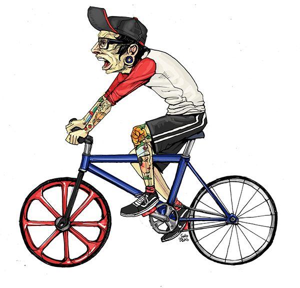 Оригинальные велосипедные иллюстрации