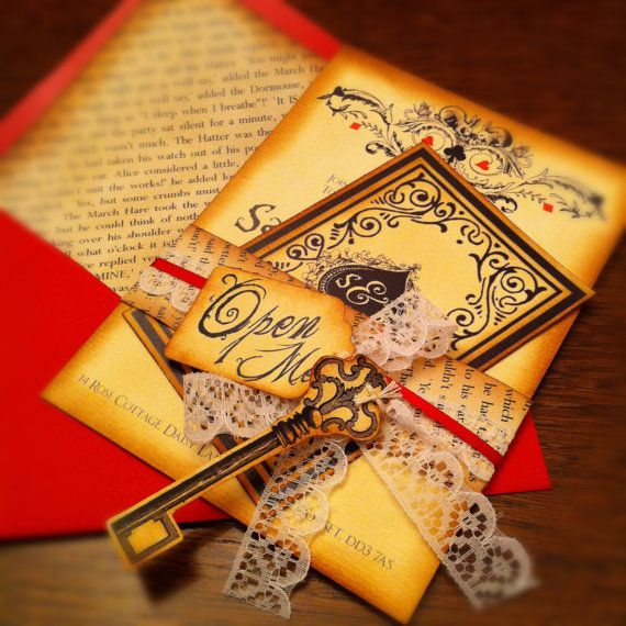 Alice in wonderland wedding invitations | Alice In Wonderland Inspired Wedding Invitation - Folksy