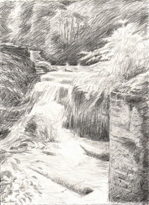Landscape Reference Photos Waterfall Drawing Cool