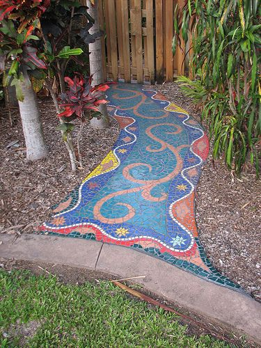 Mosaic Garden Paths | Up the garden path , originally uploaded by GeoWombats .