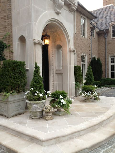 CURB APPEAL \u2013 another great ex&le of beautiful design. The Enchanted Home. & Best 20+ Front door steps ideas on Pinterest | Front steps Porch ... Pezcame.Com