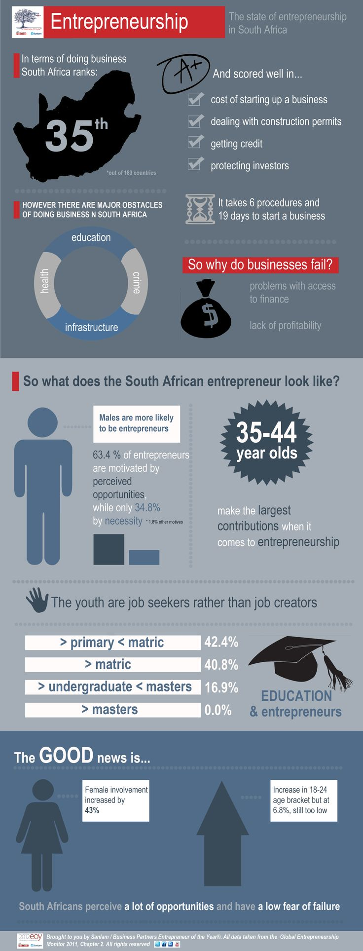 The State of Entrepreneurship in South Africa - Infographic