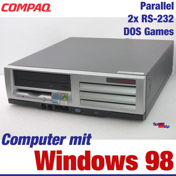 Details about COMPAQ COMPUTER MIT DOS WINDOWS 98 OLD GAMES SPIELE 40GB 2x RS-232 PARALLEL 22 – Kobi Naor