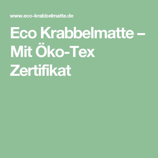 Eco Krabbelmatte – Mit Öko-Tex Zertifikat