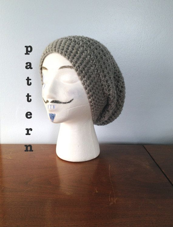 Hey, I found this really awesome Etsy listing at https://www.etsy.com/listing/228102823/pattern-crochet-slouchy-beanie-pattern