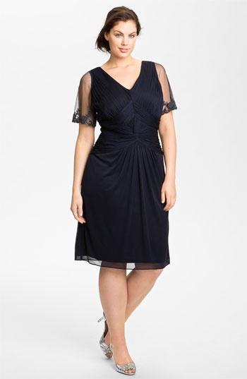 Adrianna Papell Beaded Mesh Sheath Dress (Plus) | Nordstrom