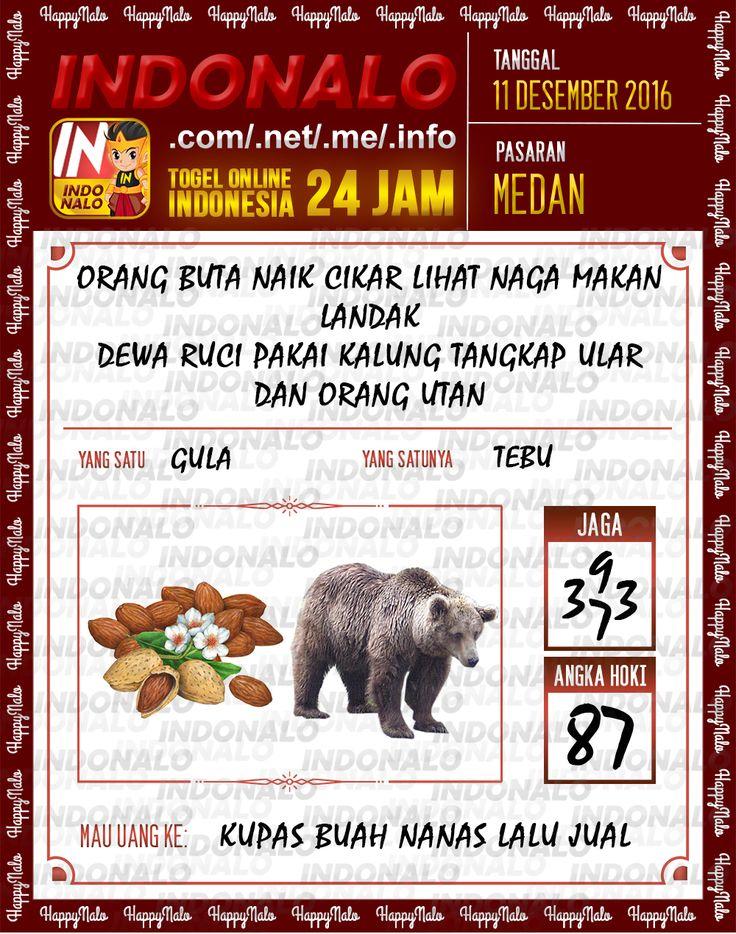 Lotre Kop 4D Togel Wap Online Live Draw 4D Indonalo Medan 11 Desember 2016