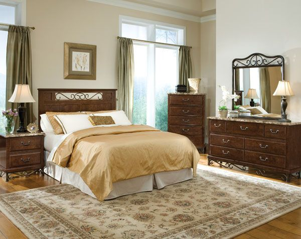 Queen Headboard, Dresser, Mirror, And Chest From Standard Furniture T And D  Furniture