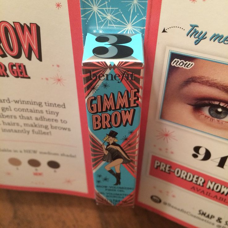 Benefit Gimme Brow in 3, DS, $5.