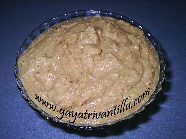 Pesara Pachhadi - పెసర పచ్చడి - Soaked Green Gram (de-husked) Chutney - Telugu Food - గాయత్రి వంటిల్లు    Click here for video - https://youtu.be/37L77TBXVRw - Ingredients:  Green Gram – 1Cup (200gms) Cumin Seeds – 1 1/2tsps Red Chilies – 6 or to Taste Salt – 1 1/2tsps or to taste Asafoetida – A Pinch Lemon Juice – 1tbsp Water – 20ml    Enjoy!!